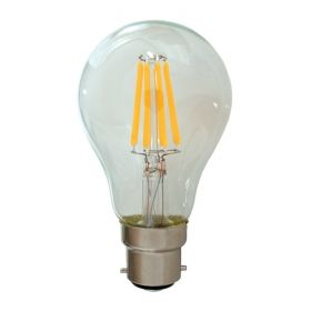 B22 8W 230V Filament Bulb - Dimmable