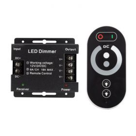 PWM Dimmer with RF Wheel Remote - 18A 1