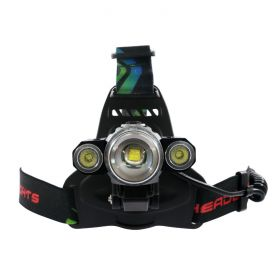 Headlamp Rechargeable 3 LED - Tiltable 4-Mode 1