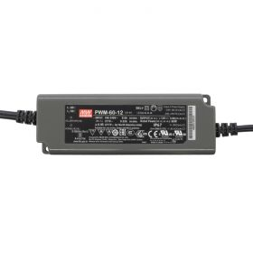 Power Supply 12V 5A 60W - 0-10V Dimmable - Meanwell PWM Series 1