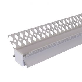 Aluminium Strip Light Channel - Plasterboard Internal Corner 1.5m 1