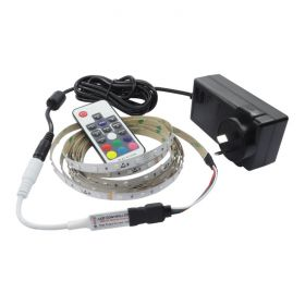5M RGB Strip Light Kit with Mini RF Controller 1
