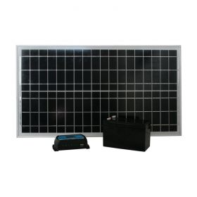 Solar Kit - 12V 30W (30W Panel + 7Ah Battery + Controller) 1