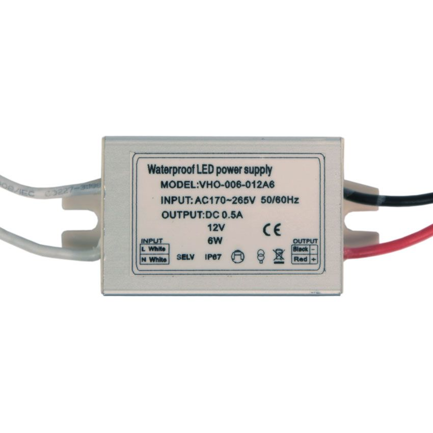 Power Supply 12V 0.5A 6W on
