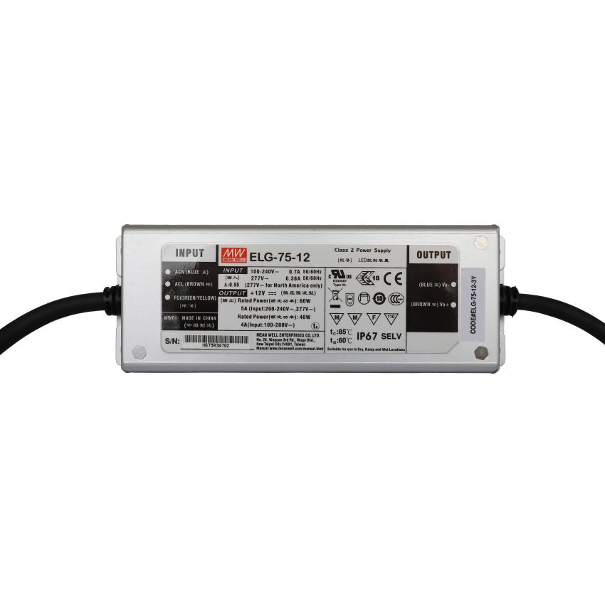 Power Supply 12V 5A 60W - MEAN WELL
